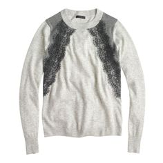 Gifts for Her: J.Crew women's colorblock lace panel sweater.