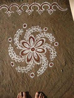 Easy Rangoli Designs Videos, Rangoli Side Designs, Simple Rangoli Border Designs, Rangoli Designs Latest, Rangoli Patterns, Free Hand Rangoli Design, Small Rangoli Design, Rangoli Designs Diwali, Rangoli Designs With Dots