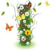 letras del alfabeto: carta de primavera hermoso yo