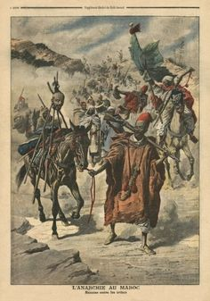Anarchy in Morocco, plundering between tribes, illustration from 'Le Petit Journal', supplement illustre, 24th November 1907.