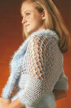 Crochet Pattern for a Lover's Knot Shrug