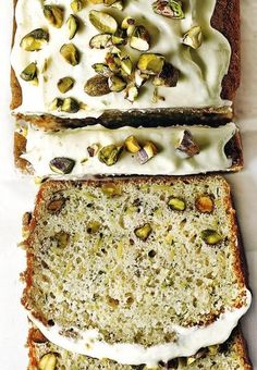 Zucchini Pistachio Yogurt Cake with Lime Cream Cheese Frosting