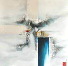 Martin Beaupré artiste peintre || Du bleu et du blanc pour alléger l esprit