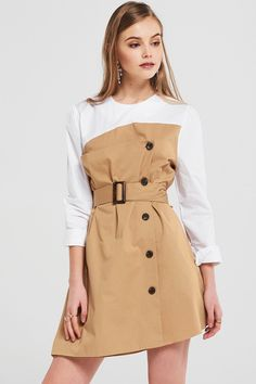 Felicity Trench Dress With Belt Discover the latest fashion trends online at storets.com #FashionTrendsDIY