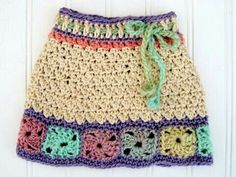 Faldita a crochet Crochet Toddler, Baby Girl Crochet, Crochet Baby Clothes, Crochet For Kids, Crochet Bikini, Knit Crochet, Baby Skirt, Crochet Skirts, Beautiful Crochet