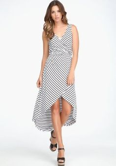 bebe Crossover High Low Dress
