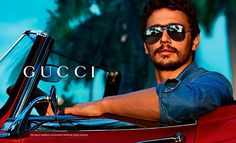 Actor James Franco shot in L.A. by Mert & Marcus for Gucci's Fall/Winter 2013 Eyewear campaign.