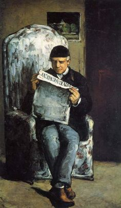 """Louis Auguste Cezanne, Father Of The Artist, Reading"" ... by Paul Cezanne"