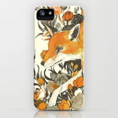 fox in foliage iPhone & iPod Case by Teagan White - $35.00