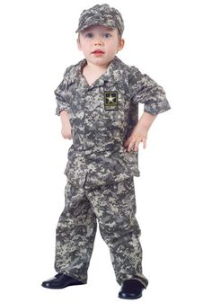 57d9f8d26c83 Army fatiques for a toddler - too cute! Kids Army Costume