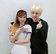 Wendy and Red Velvet Suga and BTS