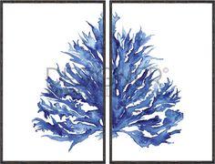 Coral Dyptich Indigo II - Designer Boys Collections