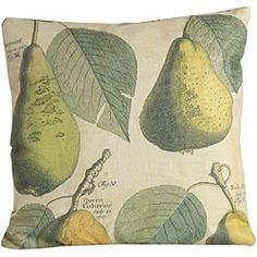 Autumn Pears Linen Pillow via Tracy Porter, $198