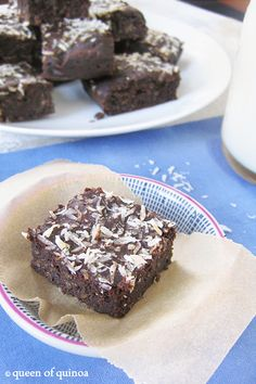 Fudgy Quinoa Brownies - Queen of Quinoa | Gluten-free + Quinoa Recipes ...