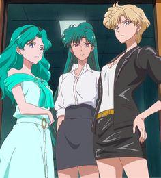 Michiru, Setsuna, and Haruka in Sailor Moon Crystal