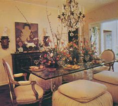 Dining with the Decorators Other Rooms, Glass Table, Table Settings, Dining, Chic, Interiors, Decor, Art, Shabby Chic