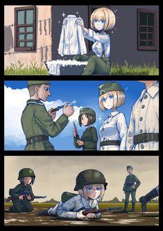 Anime Girl Neko, Anime Art Girl, Manga Art, Guerra Anime, Character Art, Character Design, Military Drawings, Anime Military, Samurai Art
