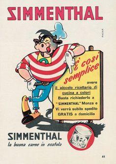 La pubblicità della carne in scatola Simmenthal negli anni '50 Di Radar