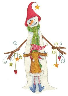 Shoply.com -Lollystick Snowman Hug Machine Embroidery Design in 4 sizes. Only $3.99