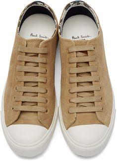 Paul Smith Jeans Beige Indie Desert Low-Top Sneaker
