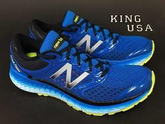 a3161462 Mens New Balance Fresh Foam 1080v7 M1080BY7 Running Shoes Electric Blue  2E-Wide