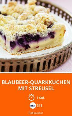 Blaubeer-Quarkkuchen mit Streusel - smarter - Kalorien: 316 Kcal - Zeit: 1 Std. | eatsmarter.de