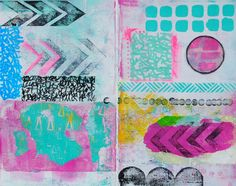 Documented Life Art Journal page by Mary C. Nasser using stencils by StencilGirl.