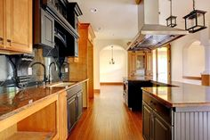 vibrant kitchen with traditional cabinetry design
