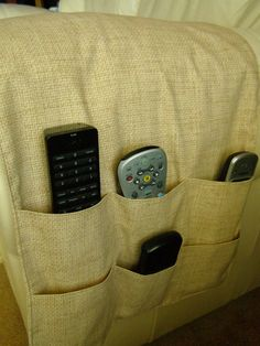 Chair Cozee TV Remote Control Holder Armrest Organizer Caddy-Green