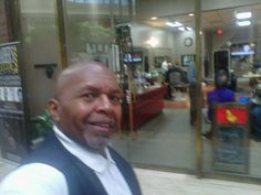 "Doing a Radio Interview at The Barber's Club, inside The Cobb Galleria Centre, with the Owners Jaye Corley & Kahlil Mohammad. Yep, www.KBCNetwork.net - Stays ""In The Mix..!!!"" with LaTanya O'Kelly and Kbcn Truvision View Right."