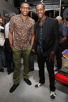 Russell Westbrook with the cheetah print.
