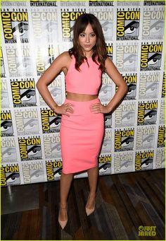 Chloe Bennet inanElizabeth and Jamestop and skirt,Sergio Rossiheels, andPorter Lyonsbracelet.