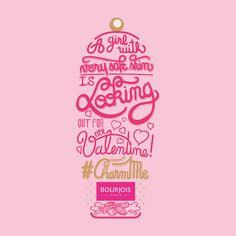 Charm Me Bourjois #bourjois #showergel #brand #typo #lettering #typographie #typography #valentinesday