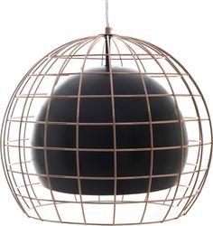 Φωτιστικό+Οροφής+Μεταλλικό+Μαύρο/Χάλκινο  Διαστάσεις:+38x38x33/120