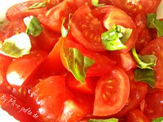 Tomatoes and basil salad ...