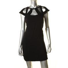 DIANE VON FURSTENBERG Womens Achava Cut-Out Cap Sleeves Cocktail Dress