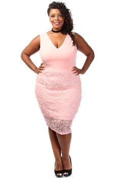 Plus Size Embossed Floral Midi Dress