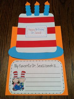 Dr. Seuss craftivity