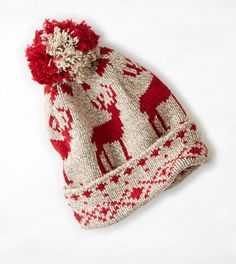 Oatmeal Heather AEO Reindeer Beanie