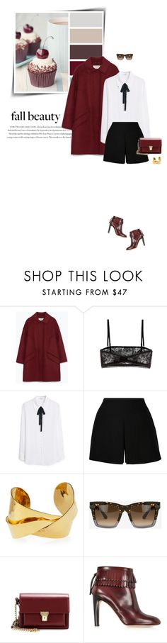 """""""Cold Weather Essentials: Wool Coat (Top Fashion Sets for Oct 28th, 2015)"""" by sophiek82 ❤ liked on Polyvore featuring Envi:, Zara, Valentino, MANGO, Devon Leigh, Yves Saint Laurent and Marc Jacobs"""