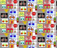 0-bikes fabric by soobloo on Spoonflower - custom fabric