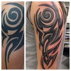 tribal tattoo rework - Google Search