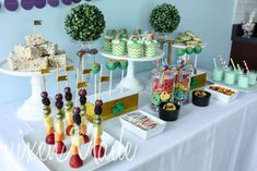 Rainbow St. Patrick's Day party table! See more party ideas at CatchMyParty.com!