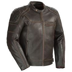 Cortech Dino Mens Brown Leather Jacket