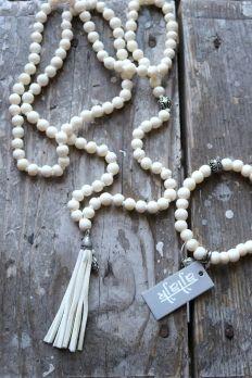 Ceramic Pearls BUDDHA, Off white