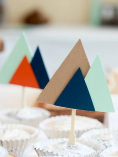 Mountain Cupcake Topper. Outdoor Cupcake topper. by JRhaeCreations