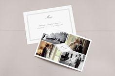 carte de remerciement mariage Monogramme by Tomoë pour www.rosemood.fr