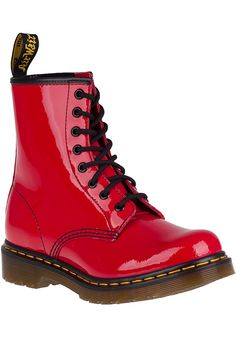 Dr. Martens 1460 Lace-Up Boot Red Patent - Jildor Shoes, Since 1949