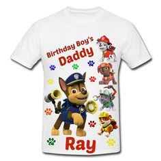 Paw Patrol Mommy And Daddy Of The Birthday Girl Shirts By FantasyKidsDesigns On Etsy Null