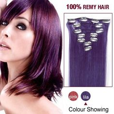 """24"""" Lila 7pcs Clip In Remy Human Hair Extensions <<<AFFILIATE LINK>>>"""